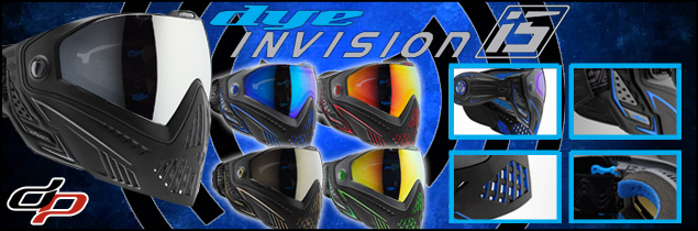 Dye i5 paintball masks are in stock