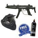 BT Delta Paintball Gun Black - Black with Helix Goggles and FREE 47/3000 Air Tank