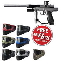 Empire Resurrection Autococker Paintball Gun Grey Dust w/ FREE E-Flex