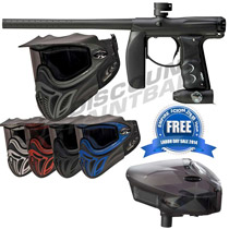 Empire Axe Paintball Gun - Black Dust with E-Vent Goggles and FREE Scion Loader