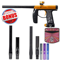 Empire Axe Paintball Gun - Polished Black/Sunset with Free Empire Super Freak Jr Barrel 14 Inch