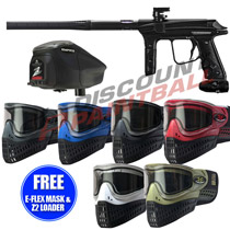 Empire Vanquish V 1.5 Paintball Gun Vader Black with FREE E-Flex Mask and Z2 Loader