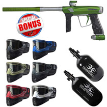 Empire Vanquish 2015 Paintball Gun Kryptonite with Free Empire E-Flex Goggles and Empire Ultra Carbon Tank