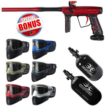Empire Vanquish 2015 Paintball Gun Black Cherry with Free Empire E-Flex Goggles and Empire Ultra Carbon Tank