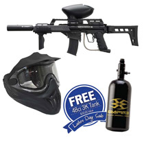 Empire BT-4 Slice G36 Elite Paintball Marker with Helix Goggles and FREE 47/3000 Air Tank