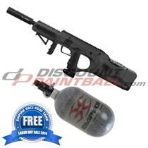 Empire BT DFender Paintball Marker Black with FREE 68ci Tank