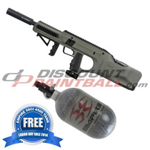 Empire BT DFender Paintball Marker Army Green with FREE 68ci Tank