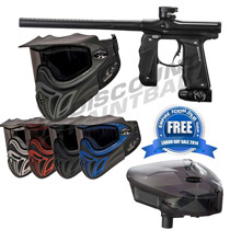 Empire Mini GS Paintball Gun Black Dust with E-Vent Goggles and FREE Scion Loader