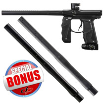 Empire Mini GS Paintball Gun Black Dust with FREE Empire Driver XX 2pc Barrel 14 Inch