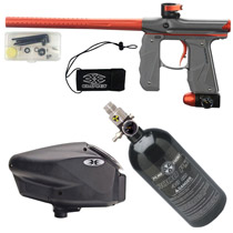 Empire Mini GS Paintball Gun Grey/ Orange Dust Package D