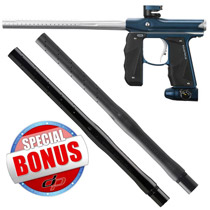 Empire Mini GS Paintball Gun Blue/ Silver Dust with FREE Empire Driver XX 2pc Barrel 14 Inch