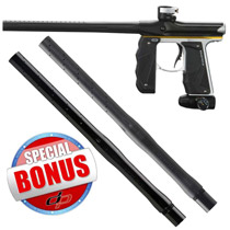 Empire Mini GS Paintball Gun Black/ Silver/ Yellow Dust with FREE Empire Driver XX 2pc Barrel 14 Inch