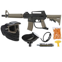 JT Tactical Ready To Play Paintball Package – Black/Tan