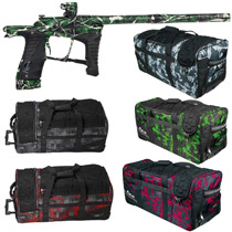 Planet Eclipse Ego LV1 Paintball Gun Banzai Green2 Splash w/ Classic Gear Bag