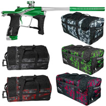 Planet Eclipse Ego LV1 Paintball Gun Lime Green Silver w/ Classic Gear Bag