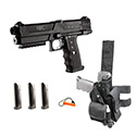 Tippmann TiPX Deluxe Paintball Gun Pistol Kit - Black