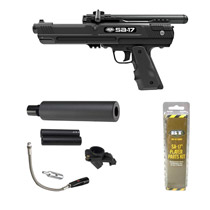 BT SA-17 Paintball Pistol Rifle Combo
