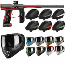 Empire Axe 2.0 Paintball Marker Combo - Dust Red/Dust Grey