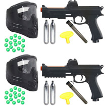 Dueling Paintball Pistol Kit JT ER2S Pump Gun Refurbished