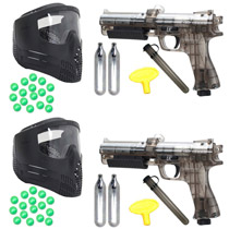 Dueling Paintball Pistol Kit JT ER2 Pump Gun Refurbished