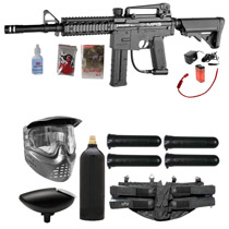 Spyder E-MR5 Paintball Starter Package Diamond Black