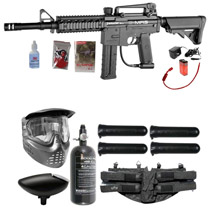 Spyder E-MR5 Paintball Rookie Package Diamond Black