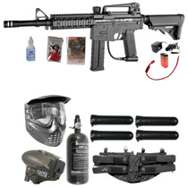 Spyder E-MR5 Paintball Rookie LED Package Diamond Black