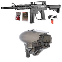 Spyder E-MR5 Paintball Gun Diamond Black with Fasta LED 18v Smoke