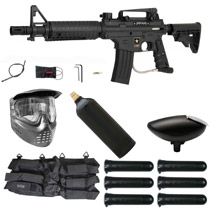 Tippmann US Army Alpha Black Elite Electronic Paintball Starter Package