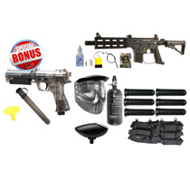 Tippmann US Army Project Salvo Paintball Rookie Package and JT ER2 Pistol
