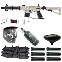 Tippmann US Army Project Salvo Paintball Rookie Package Tan / Black