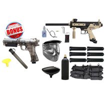 Tippmann Cronus Paintball Gun Starter Package Tan / Black and JT ER2 Pistol
