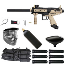 Tippmann Cronus Paintball Gun Starter Package Tan / Black
