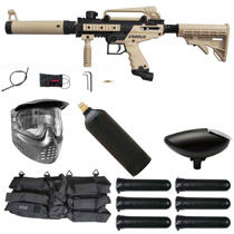 Tippmann Cronus Tactical Paintball Gun Starter Package Tan / Black