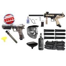 Tippmann Cronus Paintball Gun Rookie Package Tan / Black and JT ER2 Pistol