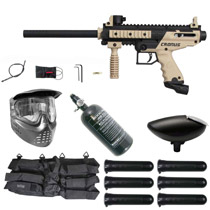 Tippmann Cronus Paintball Gun Rookie Package Tan / Black