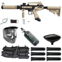 Tippmann Cronus Tactical Paintball Gun Rookie Package Tan / Black