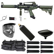 Tippmann Cronus Tactical Paintball Gun Starter Package Olive / Black