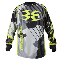 Empire 2016 Contact Zero F6 Paintball Jersey Urban/Lime