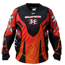 Empire 2011 LTD ZE Paintball Jersey Red Scratch
