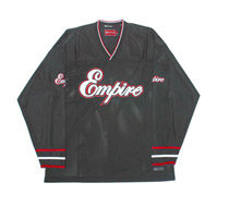 Empire Throwback Hockey Jersey Black/Red - XXL