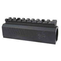 Lapco TPX Front Block with Picatinny / Weaver Rail Black