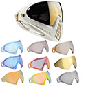 Dye I4 Thermal Paintball Goggles - White/Gold w/ Mirror Lens