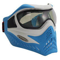 VForce Grill Paintball Mask SE White/Blue Thermal