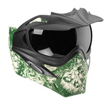 VForce Grill Paintball Mask SE Zombies Green Thermal