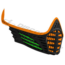 Virtue VIO Facemask Orange Lime Black