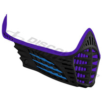 Virtue VIO Facemask Purple Cyan Black