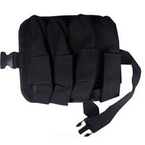 4 Pouch Paintball Harness Black with Clip Belt