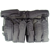 6 down 1 left 1 right Paintball Harness Black