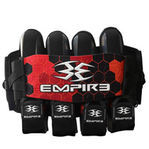Empire Compressor Pack Paintball Harness 2014 FT 4+7 Red Hex